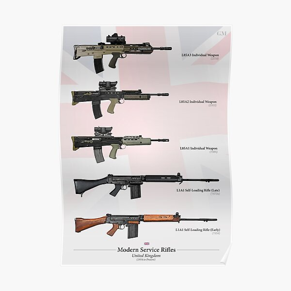 Service Rifles of the United Kingdom Poster