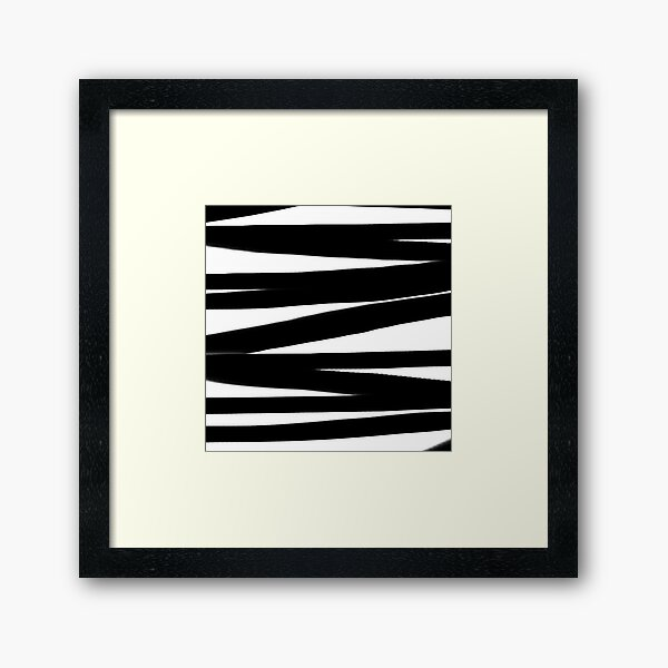 BLACK AND WHITE Lines Graphic Pierre Soulages Spirit Framed Art Print
