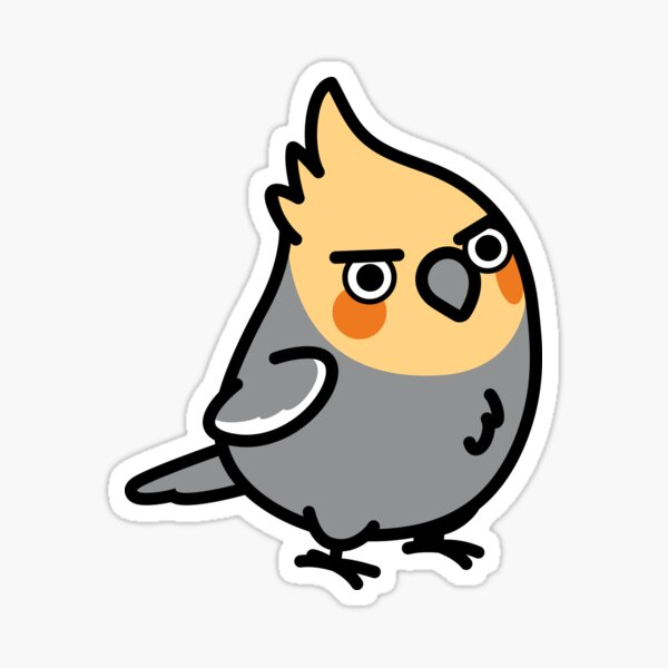 Chubby Sassy Cockatiel Sticker