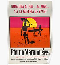 Endless Summer Vintage Poster (In Spanish), 1966 Surf Sport Documentary Poster, Artwork, Prints, Posters, Tshirts, Men, Women, Kids Poster