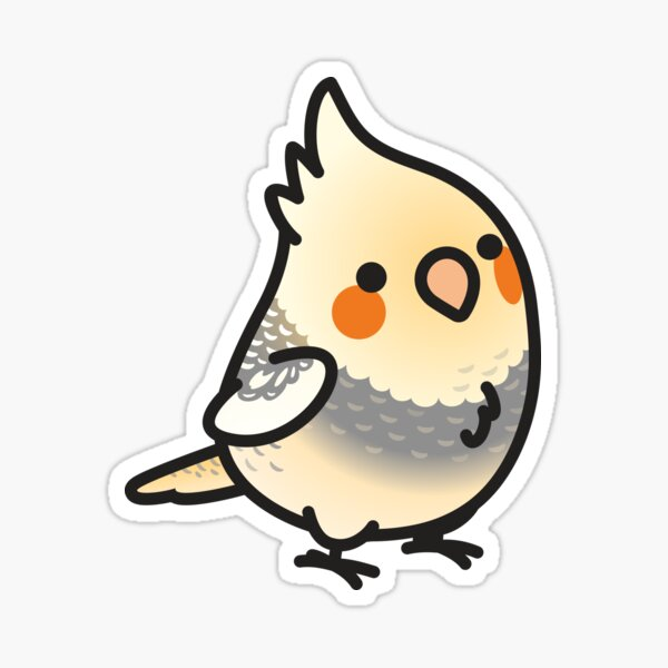 Chubby Pearl-Pied Cockatiel Sticker