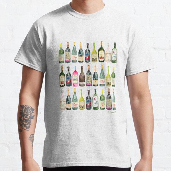 Cheers Wine Bottles  Classic T-Shirt