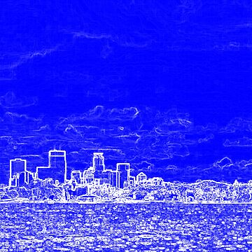 Minneapolis Skyline Over Lake Calhoun by evanj11