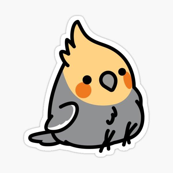 Chubby Special Needs Cockatiel  Sticker