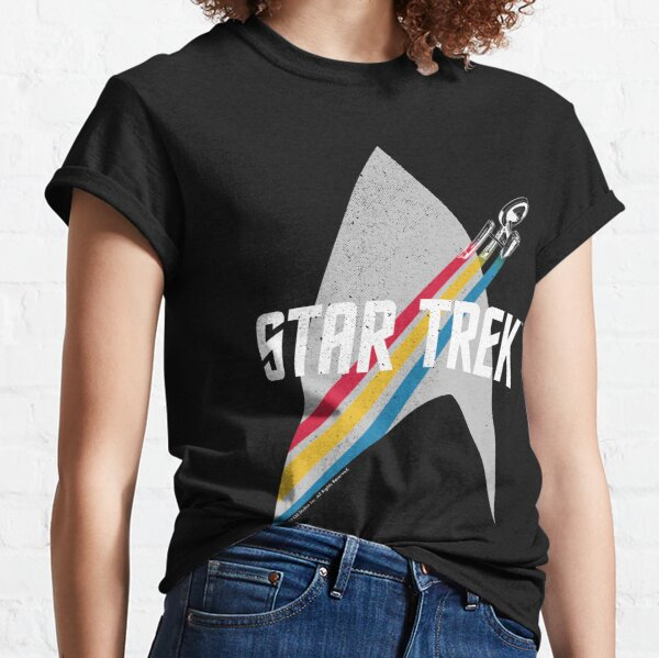 Star Trek Original Series Retro Striped Logo Classic T-Shirt