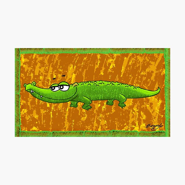 Crocodile Smile! Photographic Print