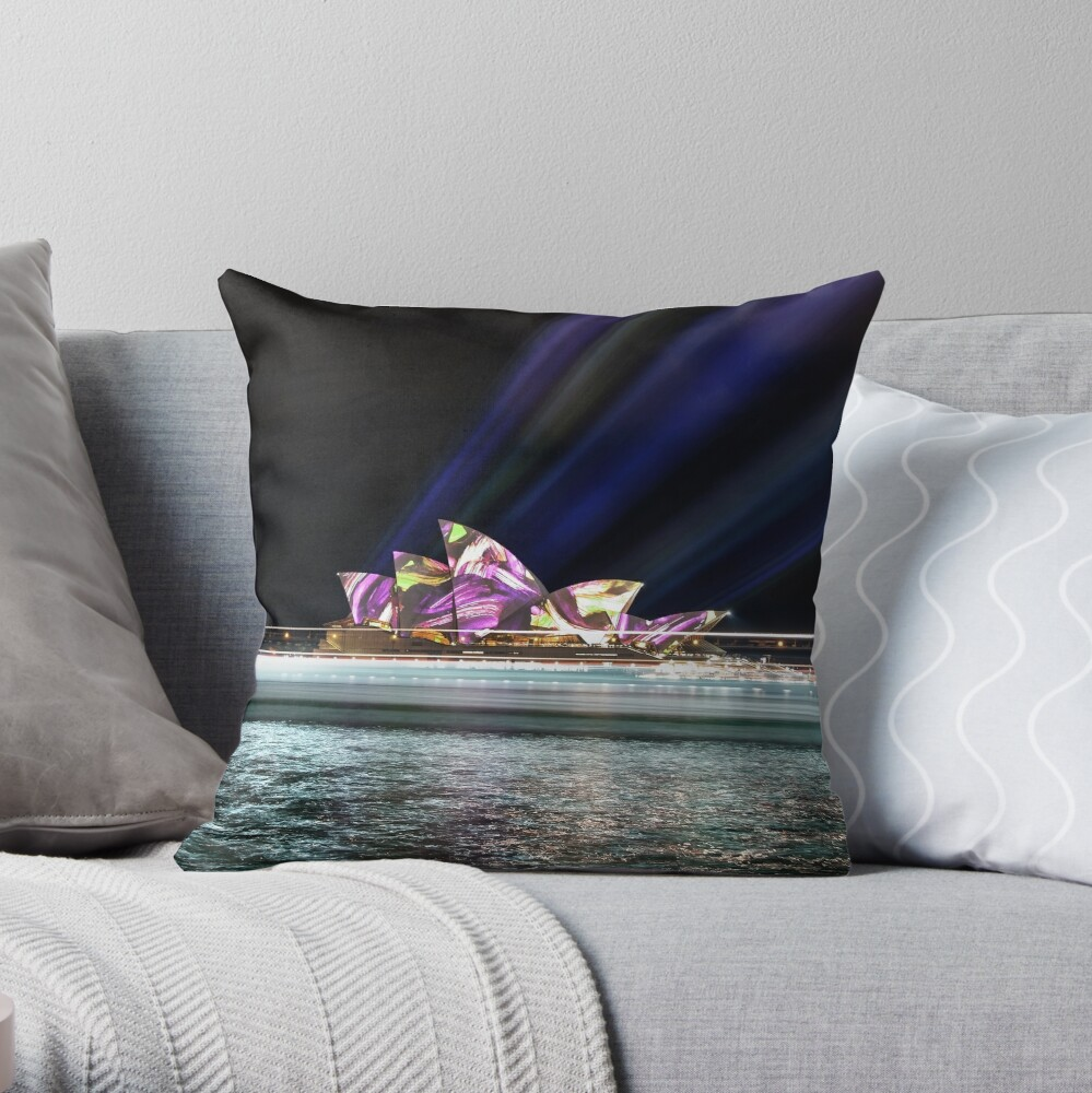 Lighting the Sails Throw Pillow