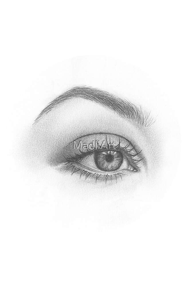Dreamy eye - realistic pencil sketch by MadliArt