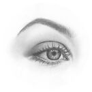Dreamy eye - realistic pencil sketch by MadliArt