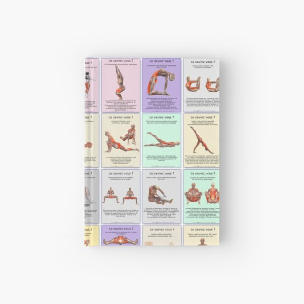 """Board """"Global Asanas"""" 42 postures and stretching Hardcover Journal"""