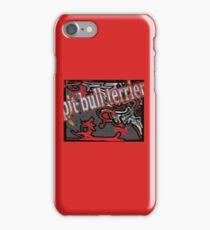 pitbull terier iPhone Case/Skin