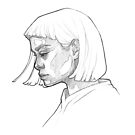 Cute girl - line art pencil sketch by MadliArt