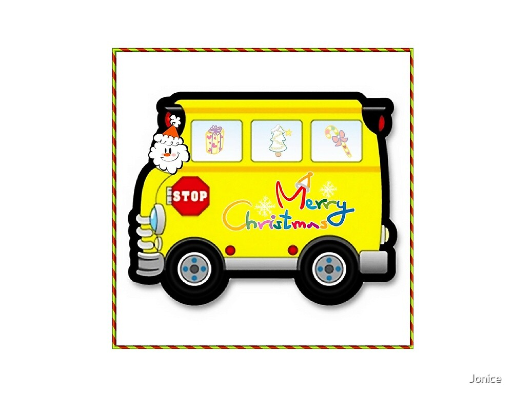 Quot school bus driver christmas card by jonice redbubble