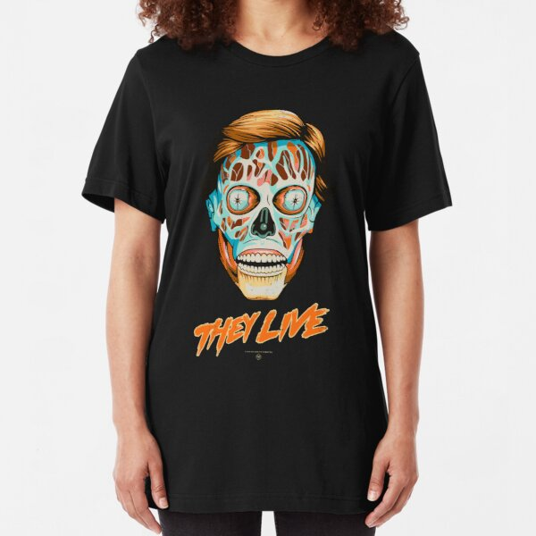 They Live - Classic Movies Slim Fit T-Shirt