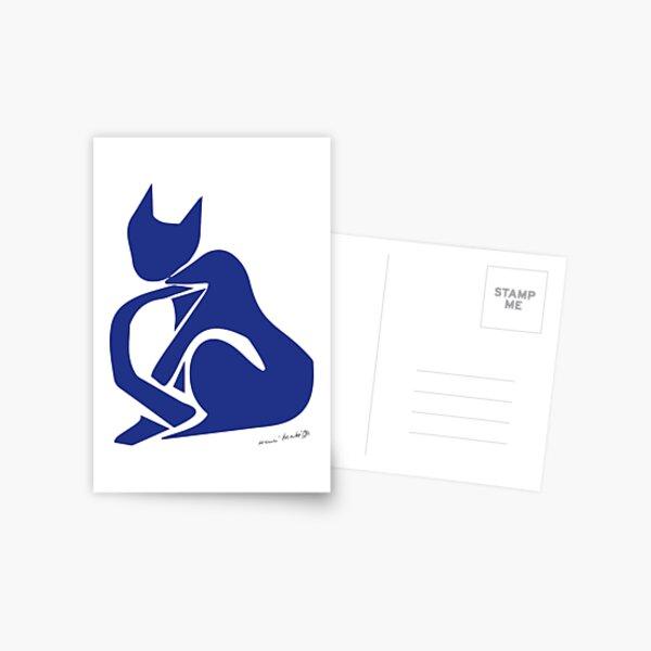 Henri Matisse - Blue Cat - Original Artwork Reproduction, Prints, Posters, Tshirts, Bags, Mugs, Men, Women, Youth Postcard
