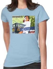 North Korean Propaganda - Beer and Eggs Womens Fitted T-Shirt