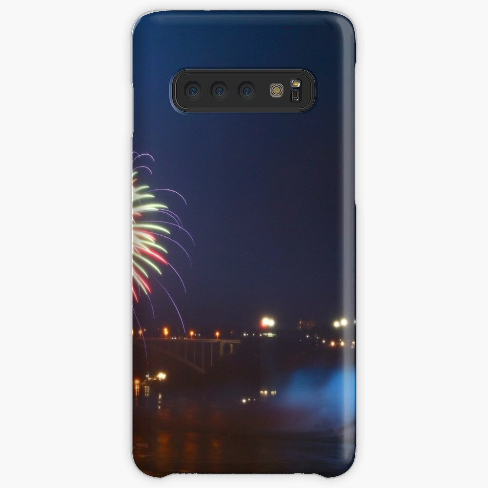 Fireworks over the American Falls Case & Skin for Samsung Galaxy