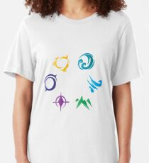 The Six Primal Sources (in color) Slim Fit T-Shirt