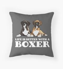 Boxer Dog Funny Design - Life Is Better With A Boxer Floor Pillow
