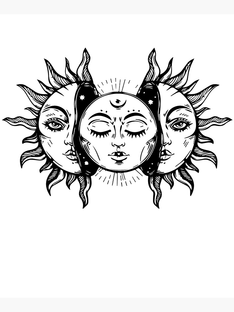Sun and Moon Tapestry. by teesandmugs