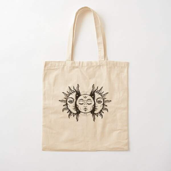 Sun and Moon Tapestry. Cotton Tote Bag