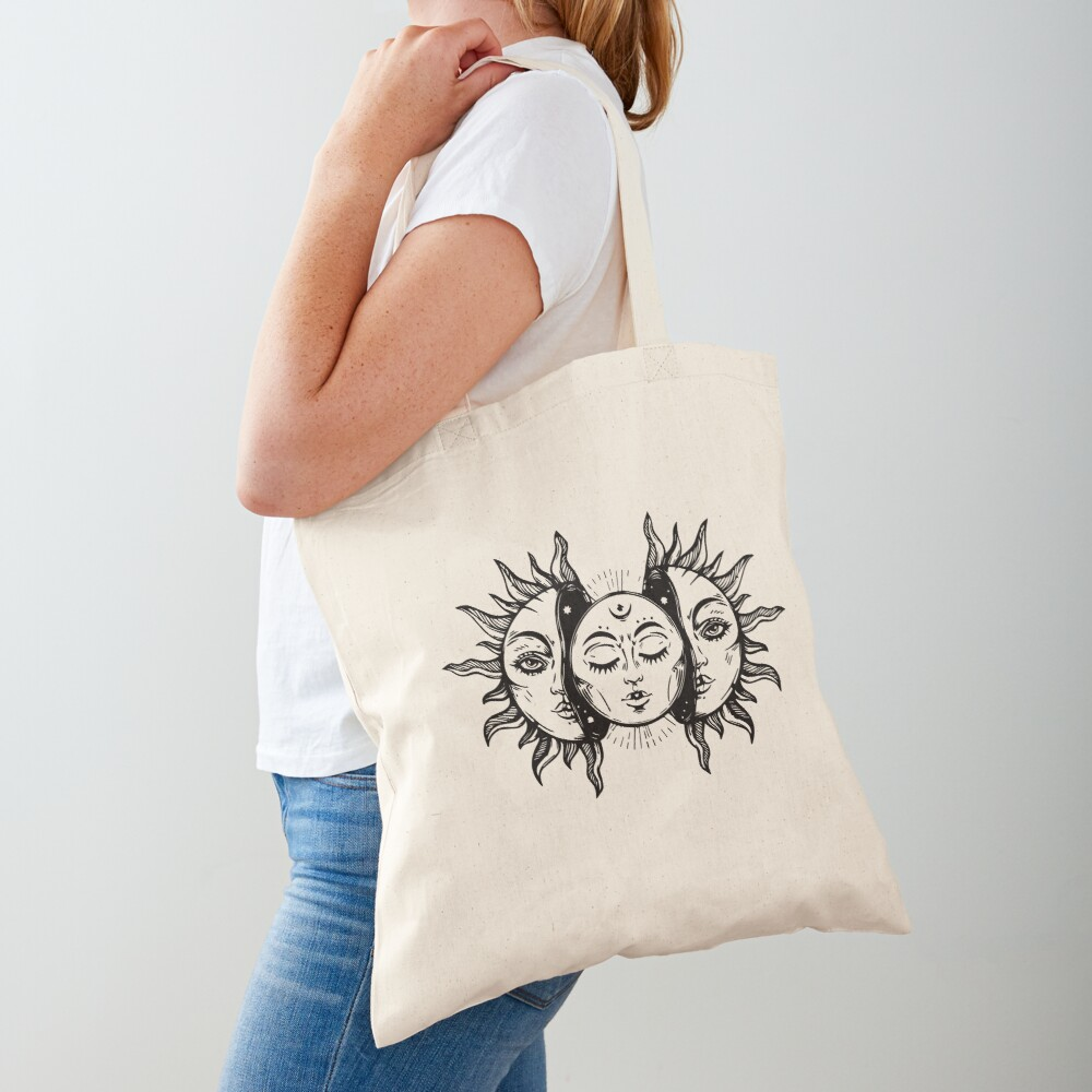 Sun and Moon Tapestry. Tote Bag