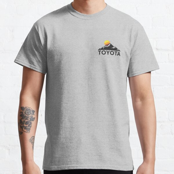 Toyota Mountain Logo T-shirt - Small Chest-left Size Classic T-Shirt