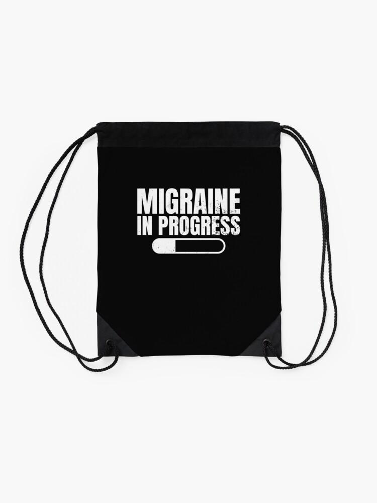 Alternate view of Migraine Shirt | In Progress Gift Drawstring Bag