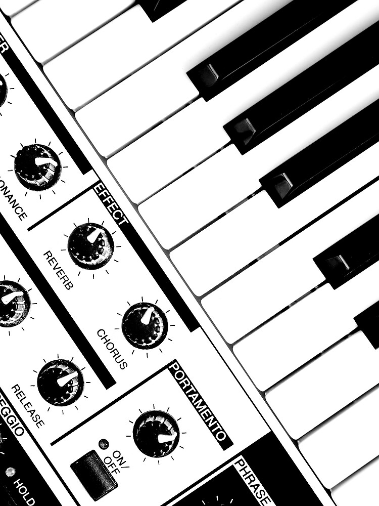 Synthesizer In Black & White by StephenRphoto