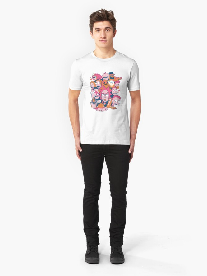 Alternate view of Rick and Morty Collage Slim Fit T-Shirt