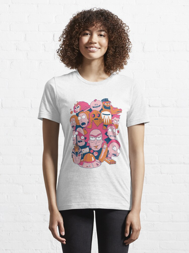 Alternate view of Rick and Morty Collage Essential T-Shirt