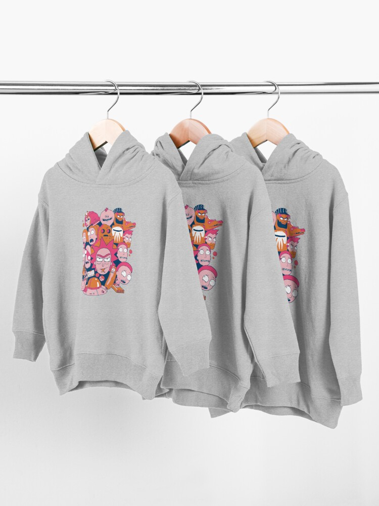 Alternate view of Rick and Morty Collage Toddler Pullover Hoodie