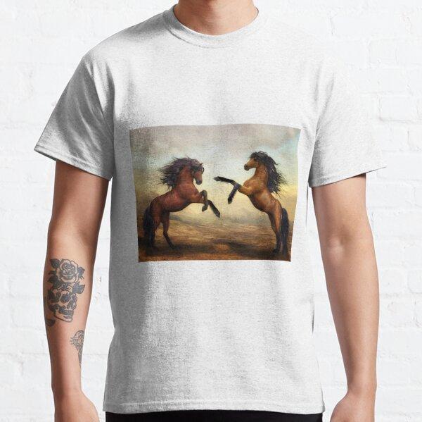 Two prancing horses Classic T-Shirt