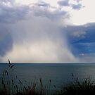 Summer Rain Storm at Sea by hurky