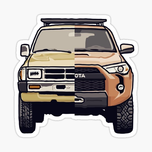 Toyota 4Runner Past and Present Design Sticker