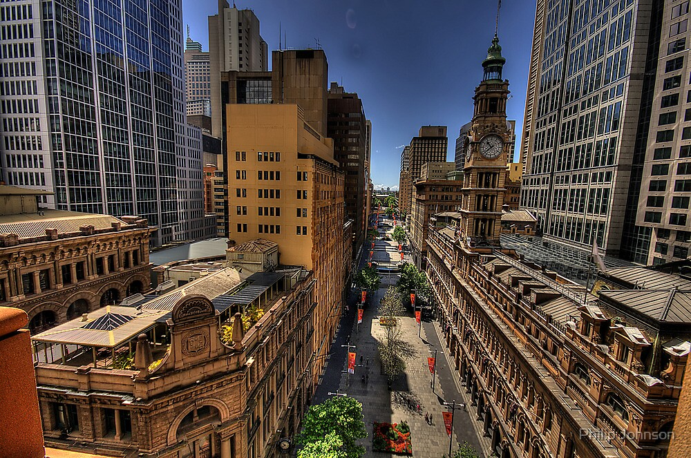 Martin Place - Sydney Australia - The HDR Experience by Philip Johnson