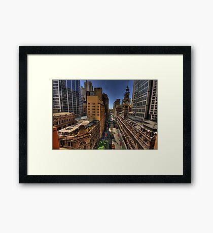 Martin Place - Sydney Australia - The HDR Experience Framed Print