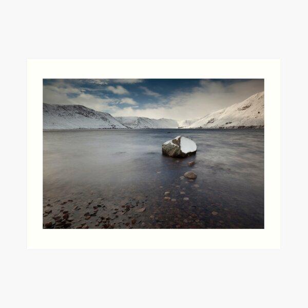 winter on loch muick Art Print