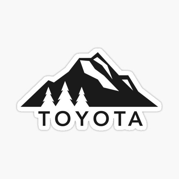 Toyota Mountain Logo Version 2 Black  Sticker