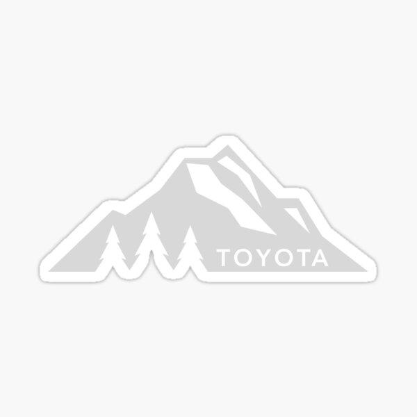 Toyota Mountain Logo Version 3 White  Sticker