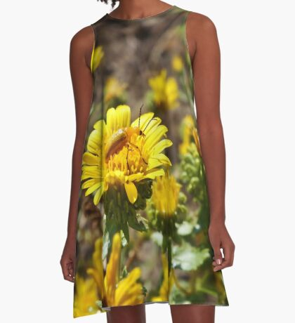 Yellow on Yellow A-Line Dress