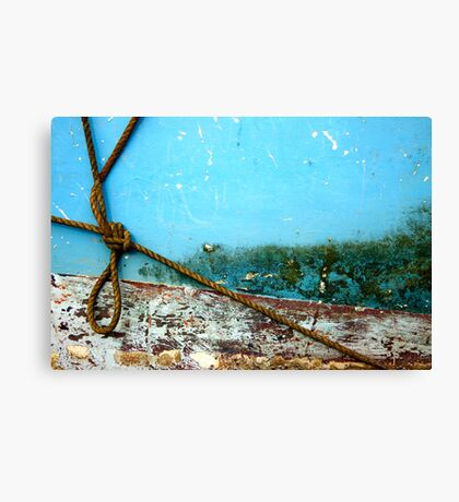 Boat abstract with rope Canvas Print