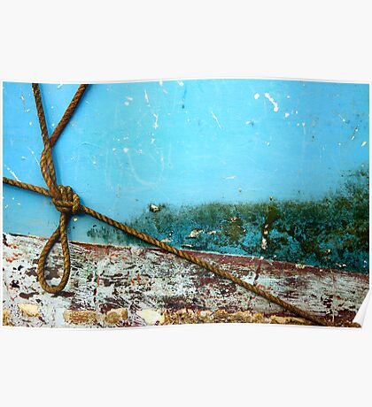 Boat abstract with rope Poster
