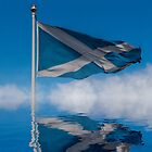 Saltire over Edinburgh Castle by GerryMac
