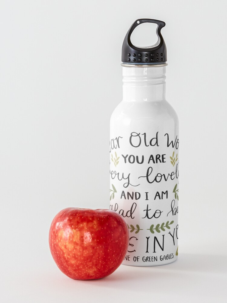 """Alternate view of Anne of Green Gables """"Dear Old World"""" Quote Water Bottle"""