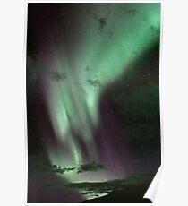 Aurora Borealis / North Light at Kvaløya island, Norway Poster