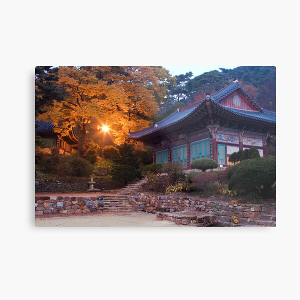 Temple At Dawn Metal Print