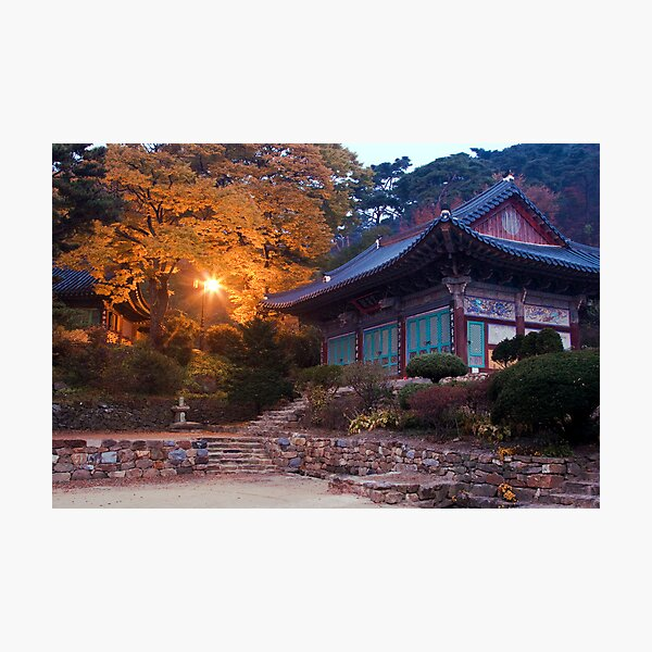 Temple At Dawn Photographic Print