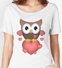 Owl in Love  Women's Relaxed Fit T-Shirt