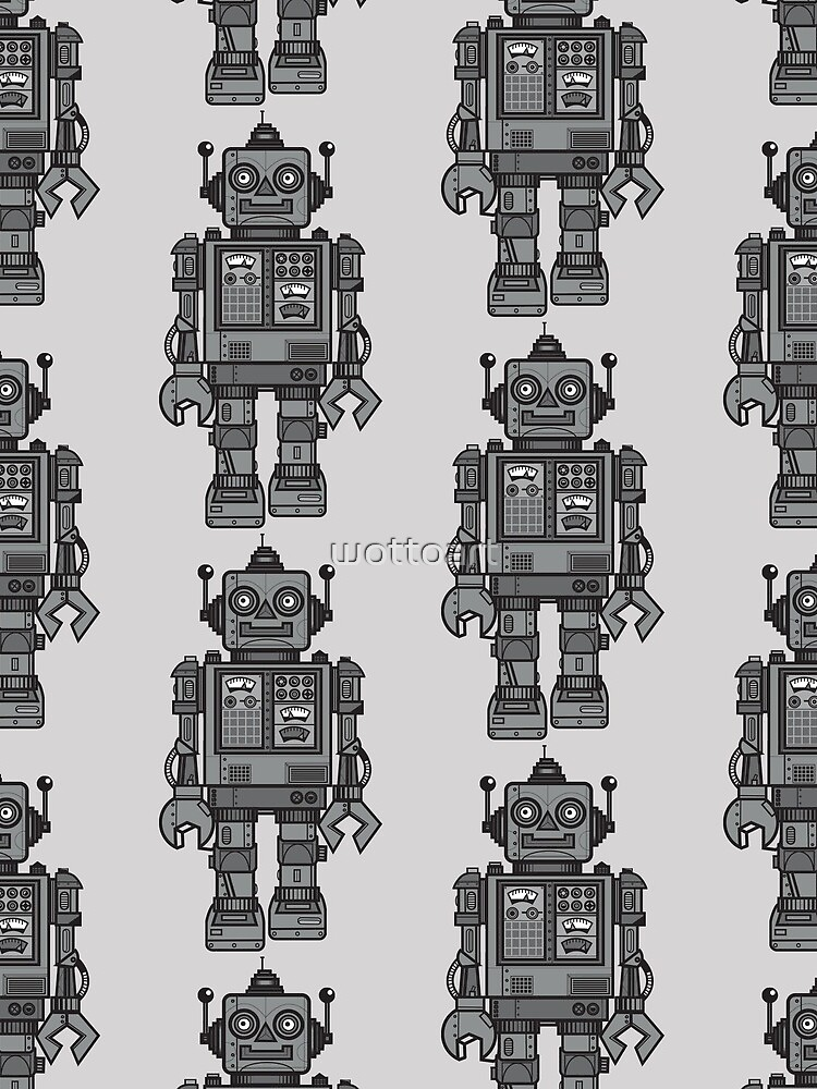 Vintage Robot by wottoart